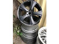 "4 22"" Kahn alloy wheels alloys rims Porsche Cayenne Audi Q7 Vw Volkswagen Touareg"