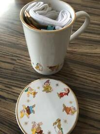 Disney mug coaster and tea towel set