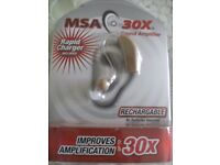 MSA 30x EAR SOUND AMPLIFIER (Brand New & Boxed)
