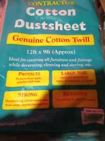 Brand new cotton twill dust sheets