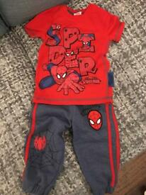Boys NWT Spider-Man Joggers and T-shirt age 1-1.5 years