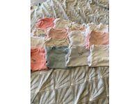 Baby 3-6 month long sleeve vest bundle - girl