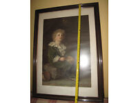 Large Framed Picture of 'Bubbles' Pears Soap Advertisment