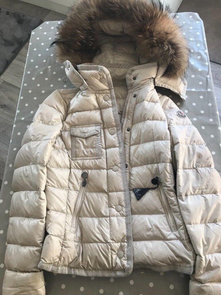 b1dc806b0712 Moncler GENUINE girls designer cream coat real fur down beautiful ...