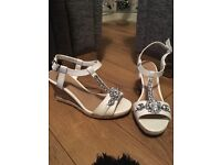 New Look white jewel wedge sandals For Sale