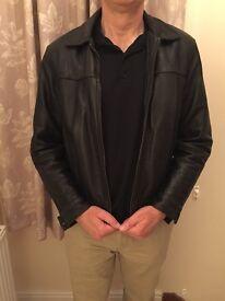 French Leather Jacket Size Medium