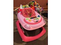 Pink Chicco Interactive Baby Walker