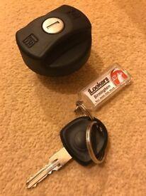 Vauxhall petrol cap and key