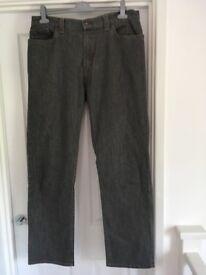 Men's trousers Blue Harbour Jeans Size 36 / 33 Grey