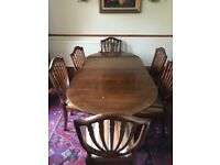 Dining room set (table, chairs and sideboard)