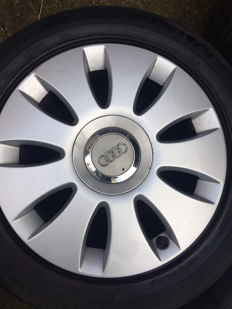 """Audi a3 16"""" alloy wheels with good tyres"""