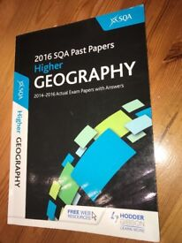 National 5 / Higher English and Geography textbooks