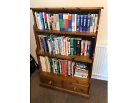 Solid pine bookcase excellent condition (books not included)