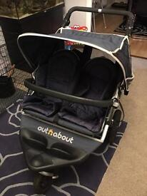 Out and about nipper double Pushchair with cocoon