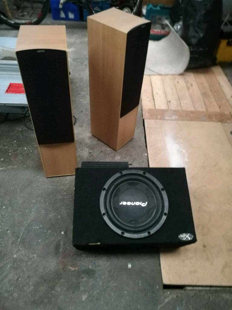 House speakers and car sub for sale