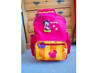 Children's Mickey Mouse travel bag with wheels