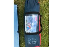 Regatta 4 man tunnel tent, 3 air beds, sleeping bag and picnic table