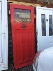 Door, external, wood, 1930's type, 795 x 2010, ex con, £70.