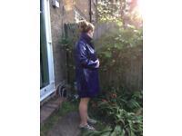 Purple patent coat size 14