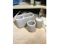 Sandstone effect 3 piece bathroom set from George at Asda NEW