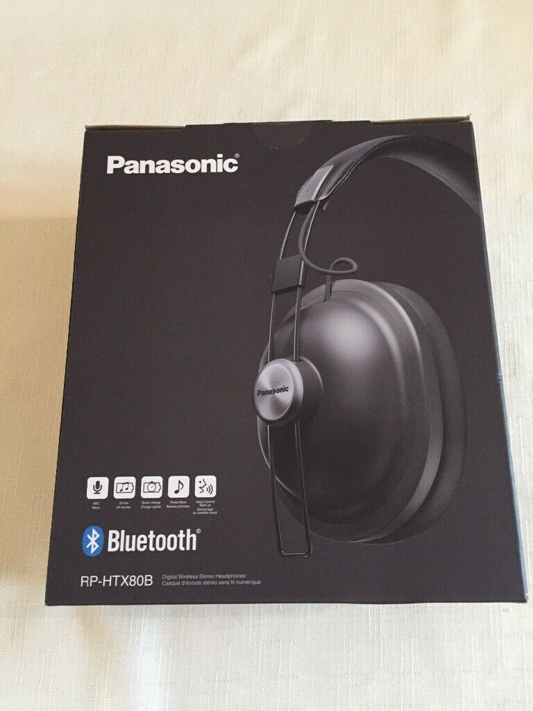 163a6344e06788 Brand New, Unused, Boxed, PANASONIC RP-HTX80BE-K Bluetooth Wireless Over-Ear  Headphones - Black