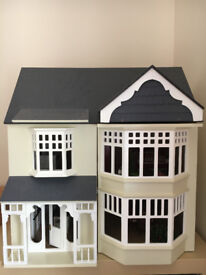 Sue Ryder 3 Storey Dolls House inc. Contents and eletric lights