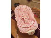 Pink Fisher-Price Vibrating baby bouncer