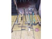 Garden tools job lot