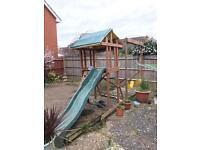Handmade Children Slide and Swing Set