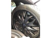 4 alloys with tyres for sale 22 and 4x4 just bought new alloys so no need for this one brand dolce