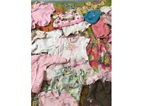 Baby Girls clothes from birth to 9 months next and more good condition