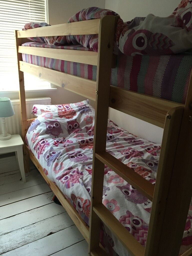 Solid Pine Bunk Beds Less Than One Year Old In Baldock