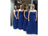 4x Royal blue bridesmaid dresses FOR SALE