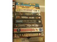 10 VHS Video tapes (Oasis, U2 and family)