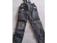 Motorbike trousers size large