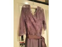 Monsoon lilac embellished dress size 14