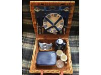2 person vintage Optima (West Sussex, England) picnic hamper