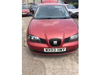 SEAT IBIZA RED PETROL 1198CC NATIONWIDE DELIVERY ***BARGAIN***