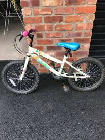 "Girls bike bicycle 18"" Apollo woodland charm excellent condition"