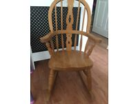 L@@K Children's solid pine rocking chair excellent