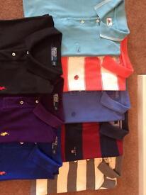 8 XXL men's Designer Polo Shirts