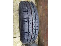 BRIDGESTONE TYRE / WHEEL 175/65/ R14 UNUSED 4 STUD OF A FORD