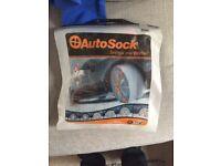 Car tyre snow socks