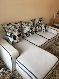 Large 3 Seats L Shaped Sofa