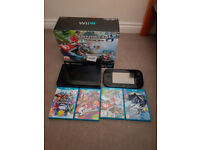 Nintendo Wii U Console 32gb boxed with 4 Games!