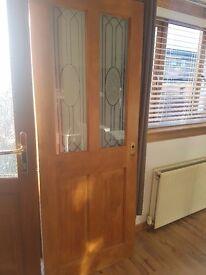 2 glass pannel door - open to offers