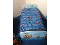Pirate toddler bed and bedroom accessories