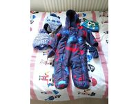 Boys 6-9 month bodysuit and hats/gloves/scarves