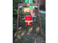 Wooden Plum Infant Swing