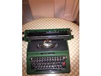 """Portable Silver Reed 500 13"""" Typewriter"""
